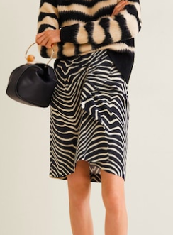 Mango Zebra print skirt