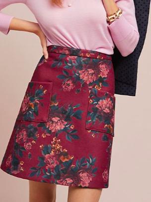 Anthropologie Mindy Mini Skirt