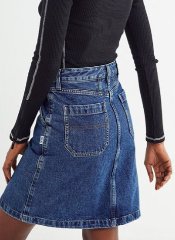 UO Tommy Jeans Denim A-Line Skirt
