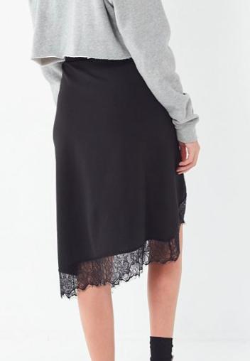 UO Lace Trim Slip Skirt
