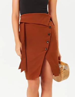Forever 21 Foldover Button-Front Skirt