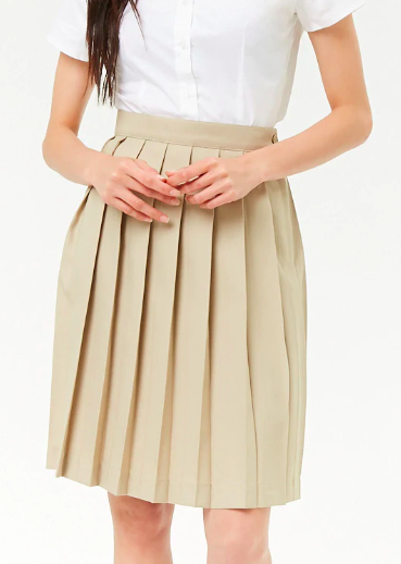 Forever 21 French Toast Pleated Skirt