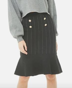Forever 21 Striped Flare Skirt
