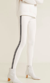 Mango Metallic panel leggings