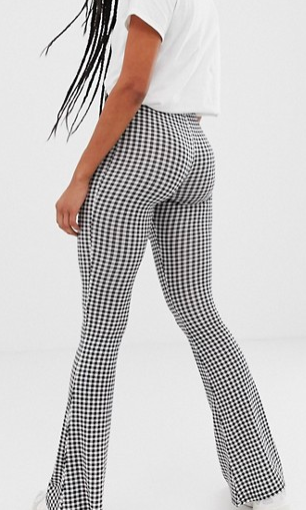 Daisy Street flared leggings in gingham