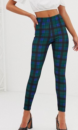 New Look leggings in check