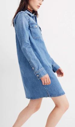 Madewell Denim Zip-Front Shirtdress