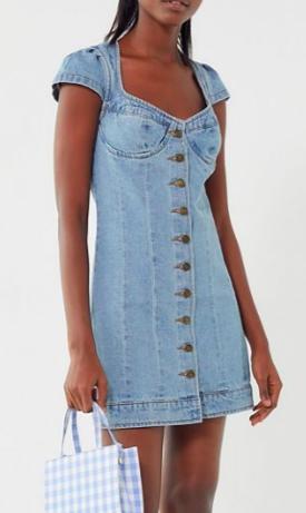 Lioness Cantanzaro Denim Button-Down Mini Dress