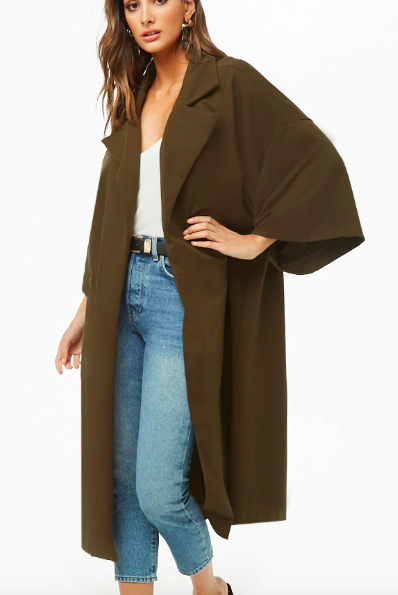 Forever 21 French Terry Duster Coat