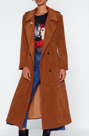 Cover Ground Corduroy Trench Coat