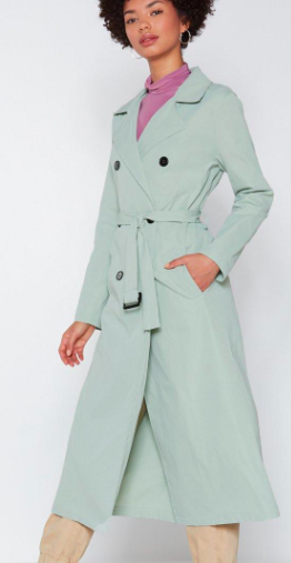 Nasty Gal Go a Long Way Trench Coat