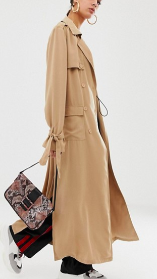 Na-kd utility lightweight trench coat in beige