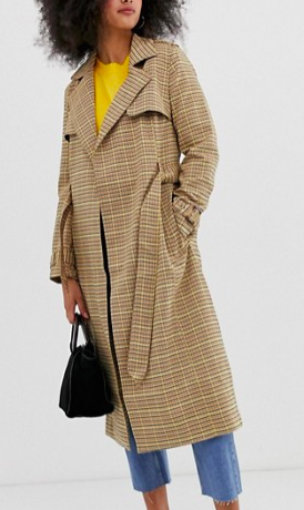 Warehouse trench coat in check