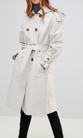 ASOS DESIGN Hooded Trench
