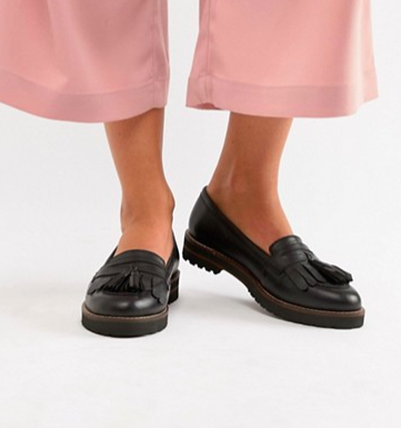 ASOS DESIGN Maxfield leather fringed loafers
