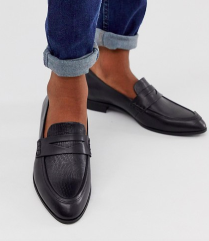 Vagabond black leather loafers