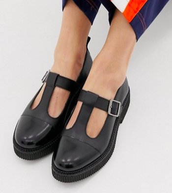 ASOS DESIGN Method chunky leather flat shoes