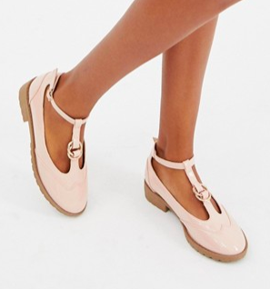 ASOS DESIGN Maxy double ring flat shoes