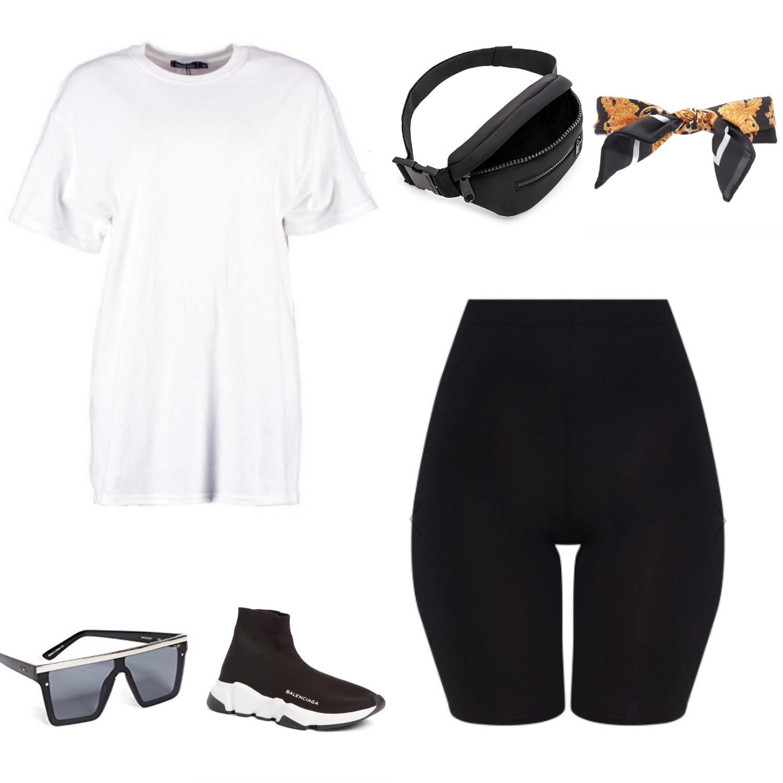 One Biker Short, Styled 3 Ways | TrufflesandTrends.com
