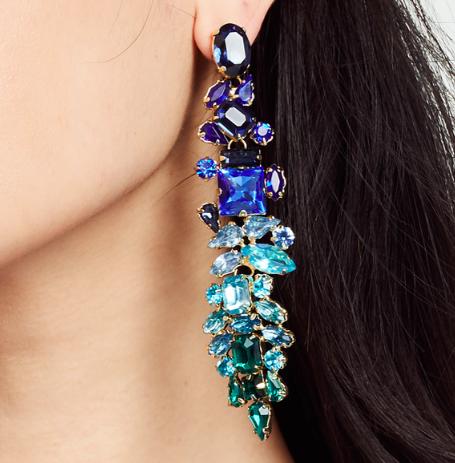 Stella + Ruby Crystal Drop Earrings