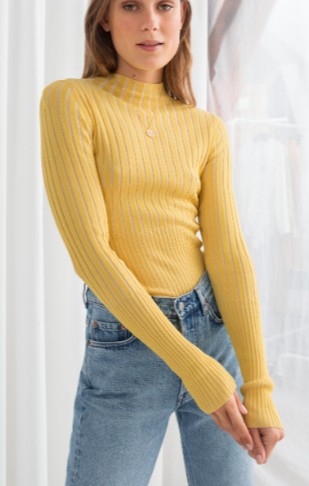 Stories Fitted Ribbed Turtleneck