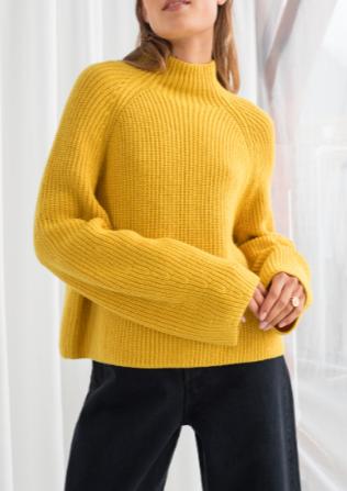 Stories Wool Blend Mock Neck Sweater