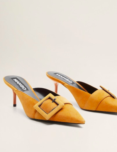 Mango Buckle leather shoes