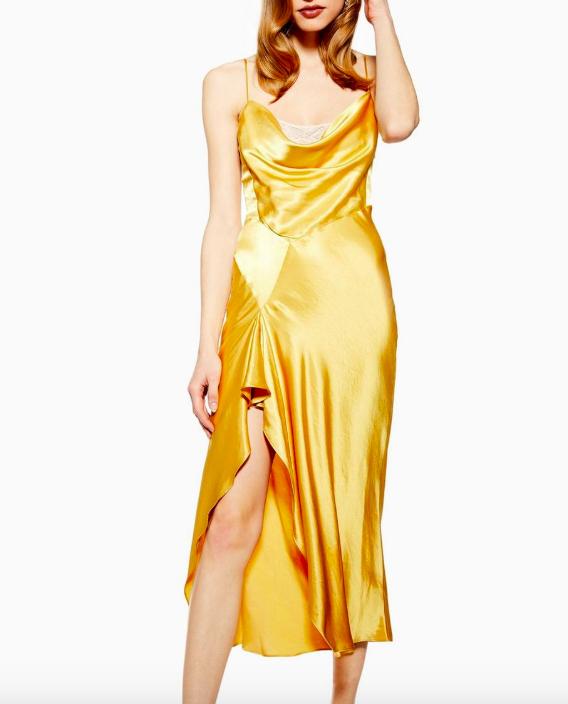 Topshop Lace Back Satin Slip Dress
