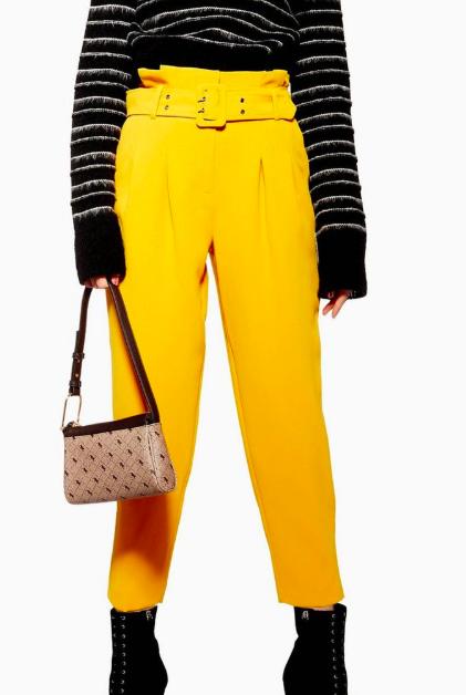 Topshop PETITE Belt Peg Trousers