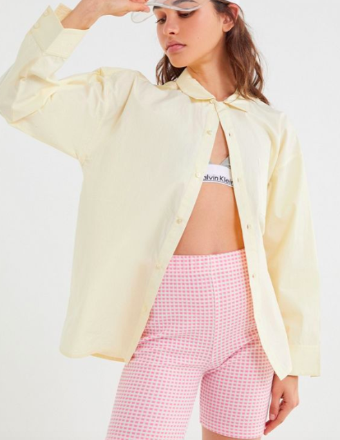UO Charlie Oversized Button-Down Shirt
