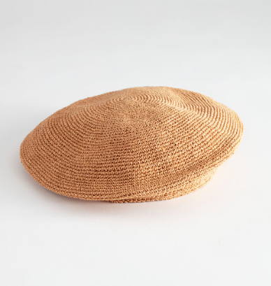 Stories Woven Straw Beret