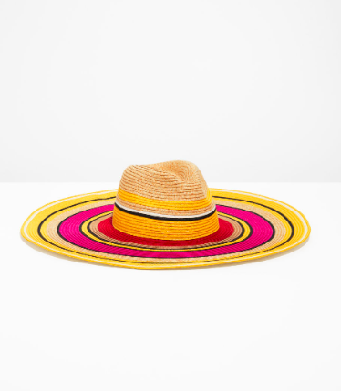 Stories Wide Brim Straw Hat