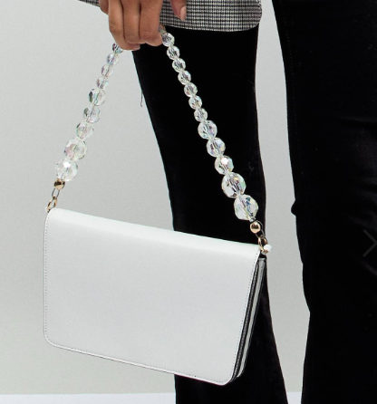 ASOS DESIGN shoulder bag with beaded strap