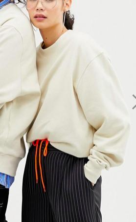 COLLUSION Unisex sweatshirt in ecru
