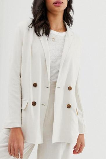 ASOS DESIGN gutsy linen relaxed blazer