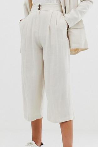 ASOS DESIGN gutsy linen culottes