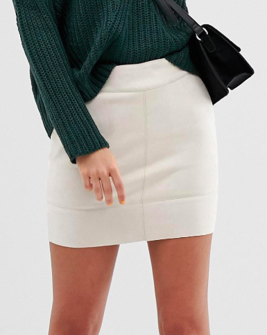 Only faux suede mini skirt