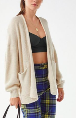 UO Colie Oversized Open-Front Cardigan
