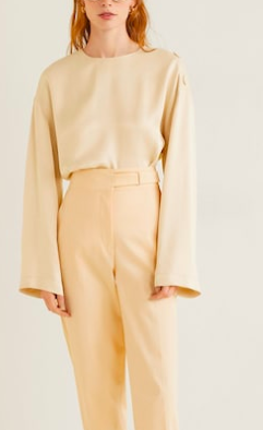 Mango Buttons satin blouse