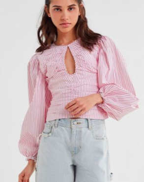 C/meo Collective Close Enough Puff Sleeve Top