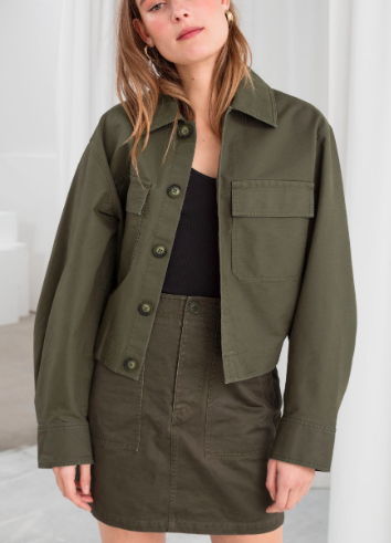Stories Cropped Cotton Twill Jacket