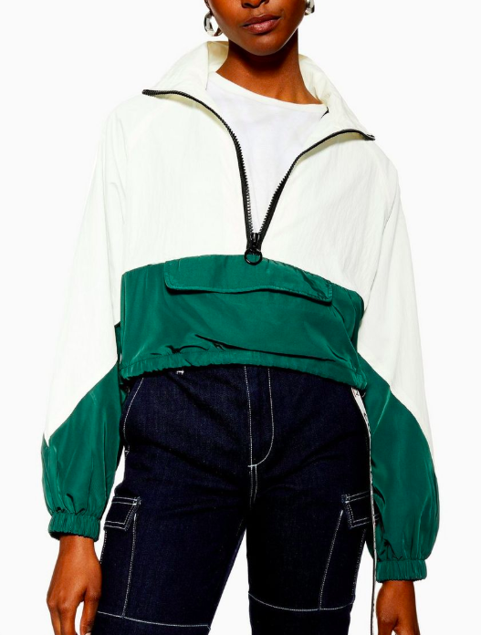 Topshop Cropped Windbreaker Jacket