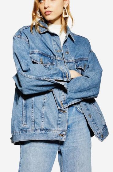 Topshop Dad Oversized Denim Jacket