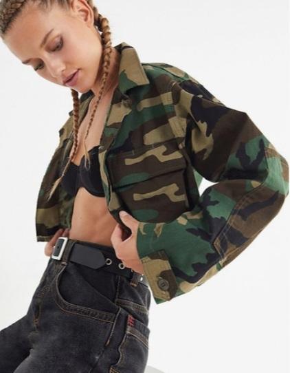 Urban Renewal Remade Cropped Vintage Camo Jacket