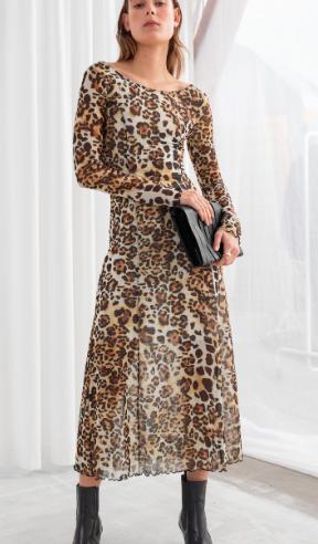 Stories Mesh Jaguar Midi Dress