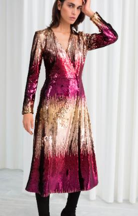 Stories Ombré Sequin Midi Dress