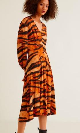Mango Tiger print dress