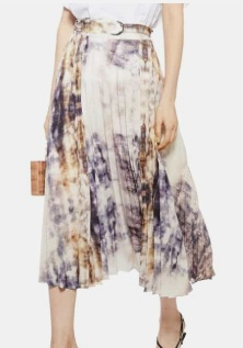 TOPSHOP Tie Dye Midi Skirt