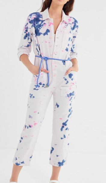UO Tie-Dye Button-Down Coverall