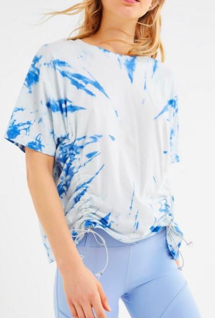 UO Sloane Tie-Dye Cinched Short Sleeve Tee